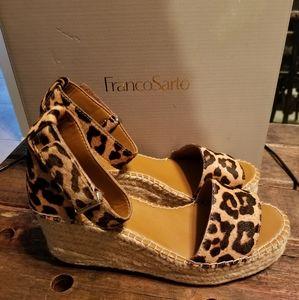 Franco Sarto Cheetah/Leopard Wedge Sandals